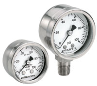 Ashcroft Stainless Steel Case Pressure Gauges Type 1008, Grade B